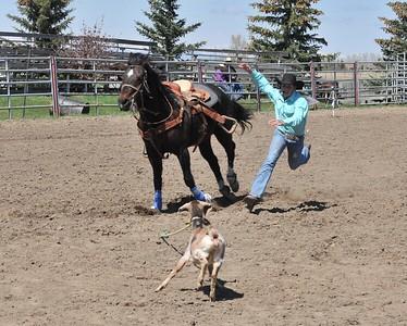 Girls Goat Tying