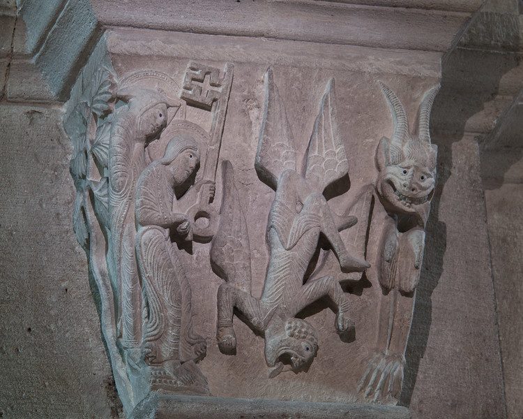 Autun, Sasint Lazarus Cathedral,  The Fall of Simon Magus