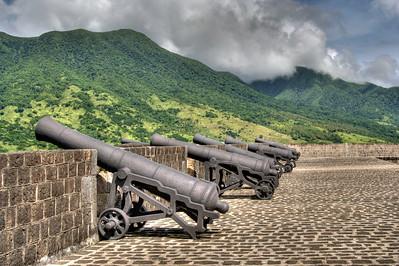 Saint Kitts, landscape & Brimstone Fortress