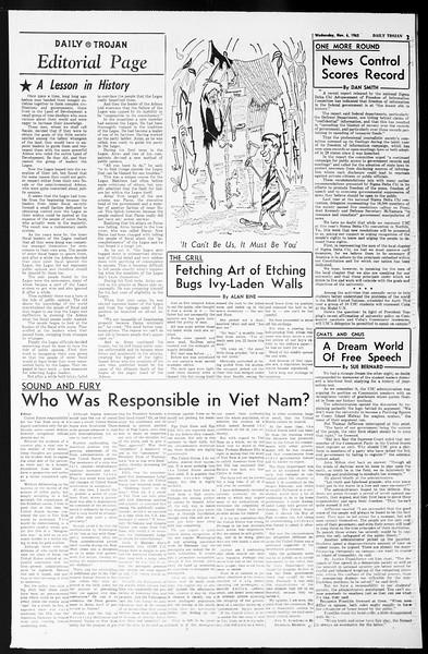 Daily Trojan, Vol. 55, No. 32, November 06, 1963