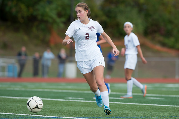10/08/19 Wesley Bunnell   StaffrrBristol Central girls soccer defeated Bristol Eastern 1-0 at Bristol Eastern High School on Tuesday afternoon. BC's Ashlee Crumrine (2).