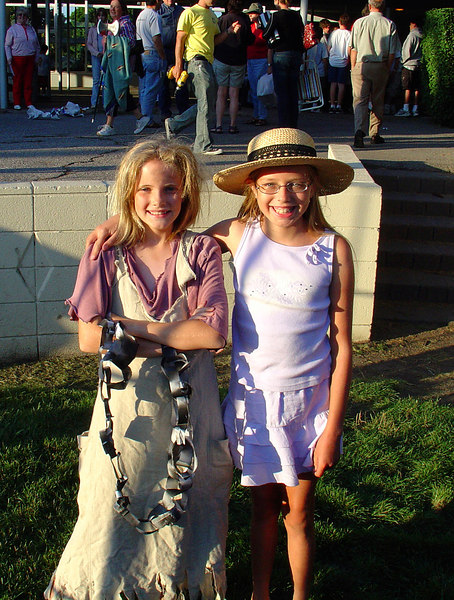 Emily with her buddy Reyna after the show.