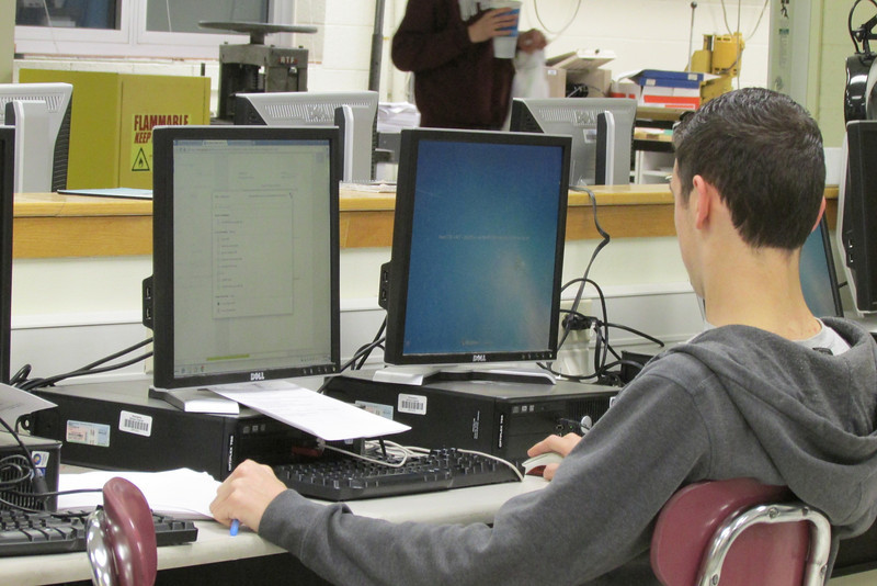 Curtis printing off safety tests for students to take