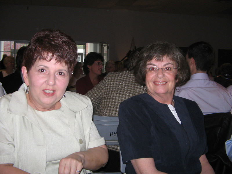 Mom and Debbie at the Apple Blossom Tea