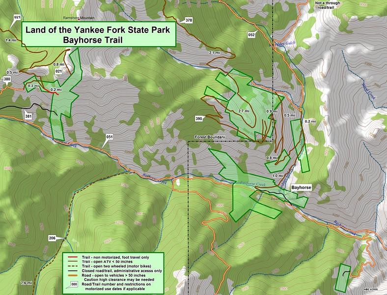 Land of the Yankee Fork State Park (Bayhorse Trail)