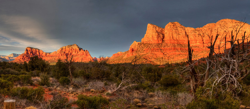 """Sedona. View from Bell Rock Pathway #2. 35"""" x 15"""""""