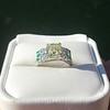 2.10ct Art Deco Peruzzi Cut Diamond Ring, GIA W-X SI2 31