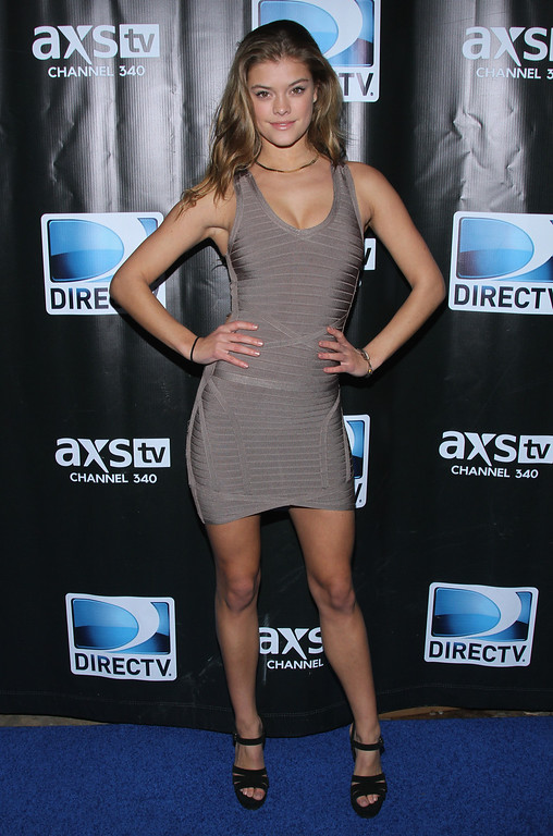 . Model Nina Agdal attends the DirecTV Super Saturday Night at Pier 40 on February 1, 2014 in New York City.  (Photo by Rob Kim/Getty Images for DirecTV)