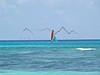 Sailboat near Playa del Carmen, Mexico.
