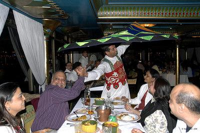 Cairo - 'floating' dinner