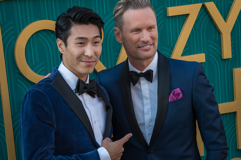 HOLLYWOOD, CA - AUGUST 07: Chris Pang and Brian Tyler arrive at Warner Bros. Pictures' 'Crazy Rich Asians' Premiere at TCL Chinese Theatre IMAX on Tuesday, August 7, 2018 in Hollywood, California. (Photo by Tom Sorensen/Moovieboy Pictures)