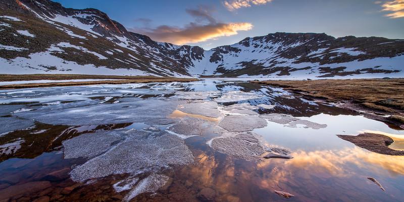 Summit Lake on Mount Evans Panorama