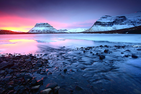 Top Destinations with beautiful eventides Grundarfjordur Iceland