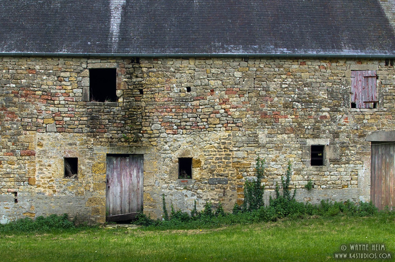 Old Barn in Normandy   Photography by Wayne Heim