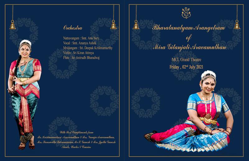 Mira's Bharatanatyam Arangetram 2021