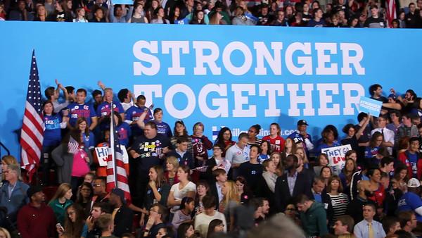 20161108 Election Day just begun Hillary Clinton rally, NCSU