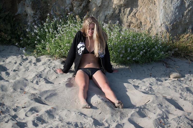 Nikon D800 Photoshoot of Bikini Swimsuit Model in Malibu