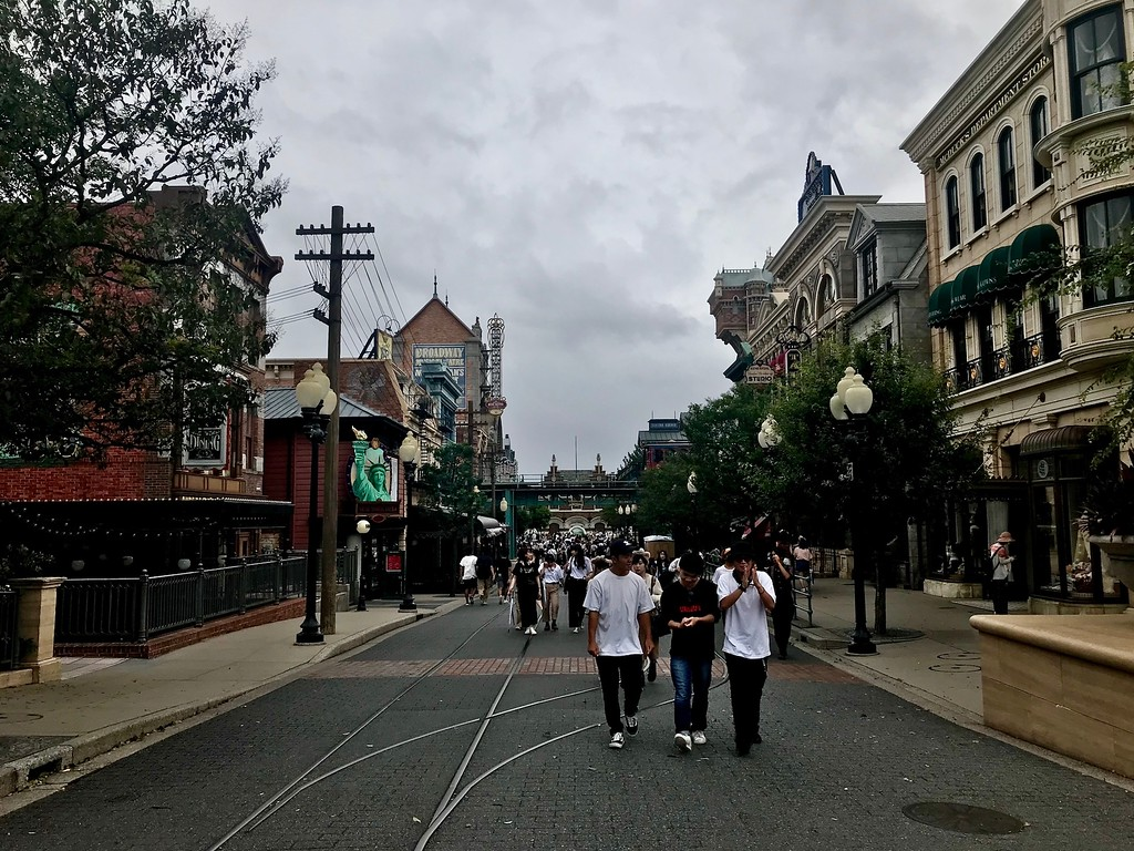 Walking into the American Waterfront zone.