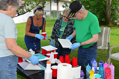 Family and Friends Pour Painting Event