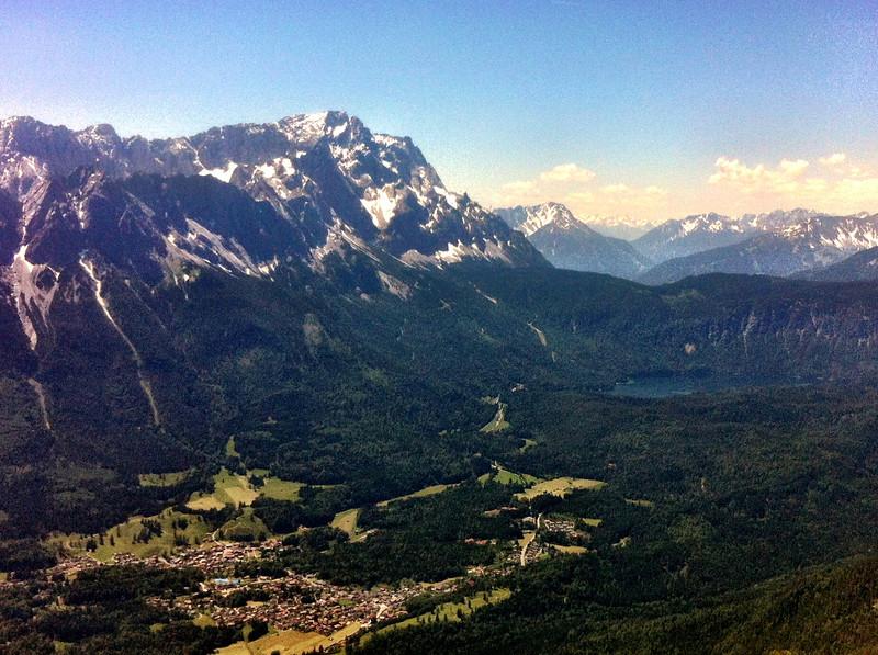 Zugspitze mit Eibsee (iPhone 4, camera+ app, Clarity filter)