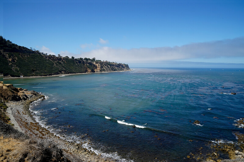 The view from Bluff Cove in Palos Verdes Estates, California
