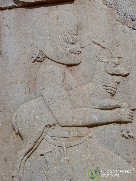 Persepolis Relief, Soldier with Deer - Iran