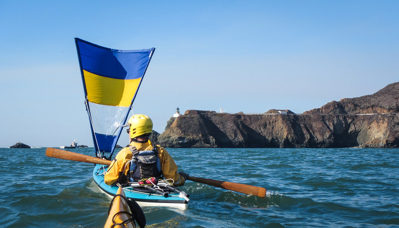 Rich deployed his sail as we approached Point Bonita and her lighthouse.