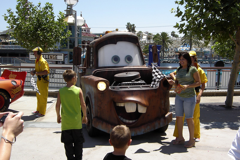 We come across two of the popular characters from Pixar's Cars. Believe it or not, Valerie and I still haven't seen the movie!