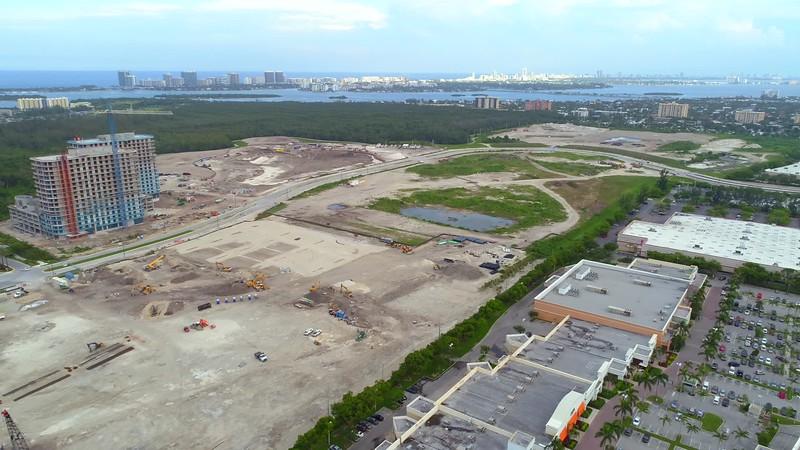 Aerial video Miami land development 2018