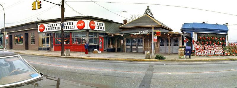 Jan. 1973.  The Metropolitan Avenue terminus of the El.