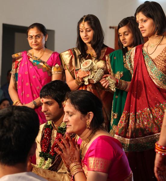 Keeping the groom awake at the Vidhi.