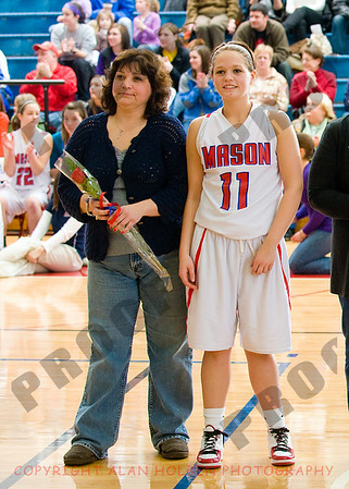 Girls Varsity Basketball - Owosso at Mason - Feb 25