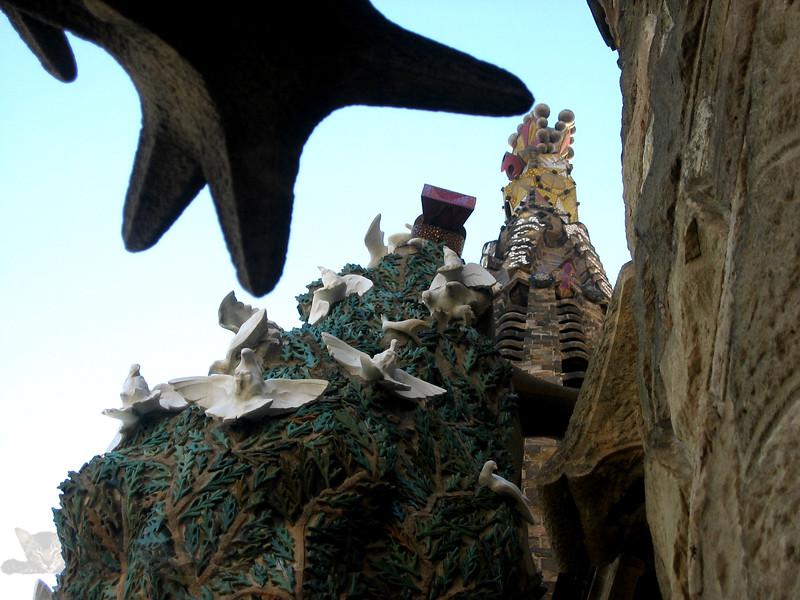 Sculpture and Architecture of Sagrada Familia in Barcelona, Spain