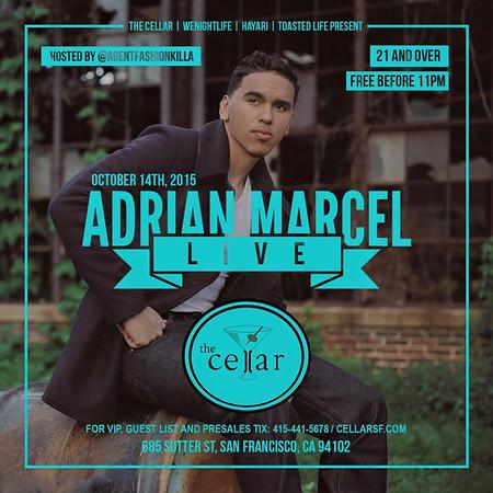 Adrian Marcel Live @ Hayari CellarSF 10.14.15
