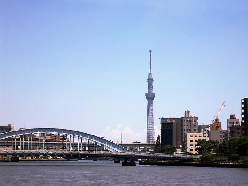 EitaiBashi Bridge and Tokyo Skytree, 2,080' (634 m)