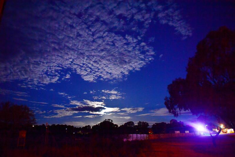 Paringa Silo Art at night 8