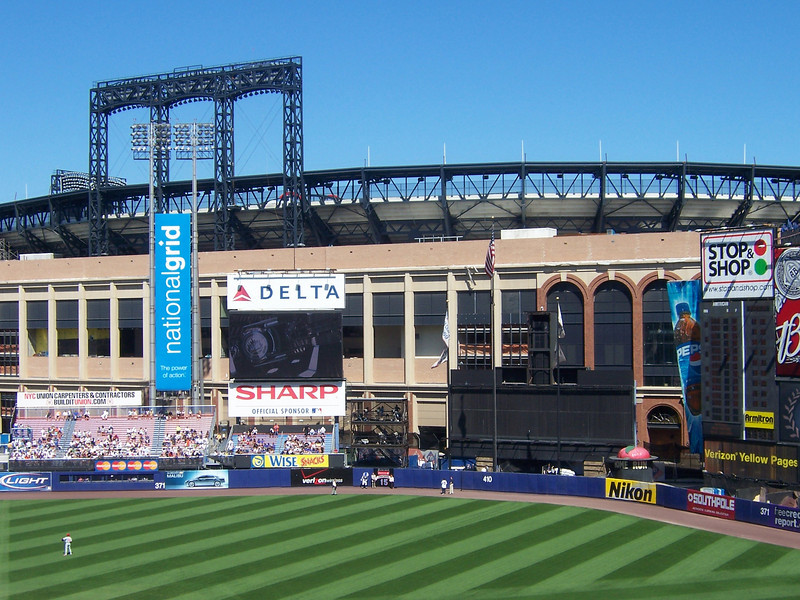 The back wall of Shea, and Citi Field right behind.