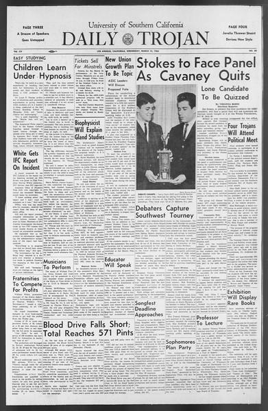 Daily Trojan, Vol. 54, No. 80, March 13, 1963
