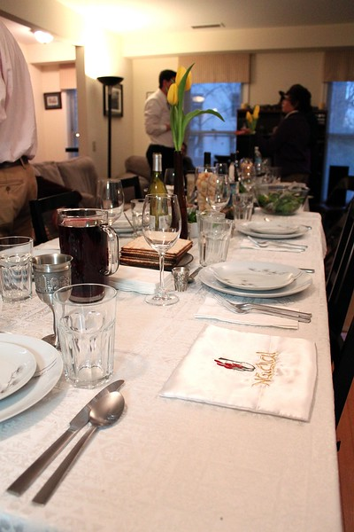 The seder table