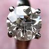 2.05ct Old European Cut Diamond Platinum Solitaire, GIA K SI1 11