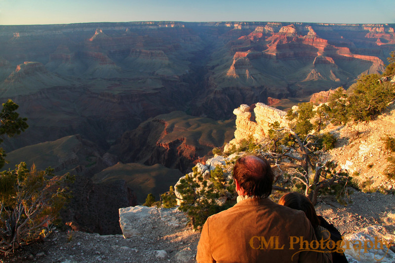 Watching the sun go down, staring up Bright Angel Canyon.