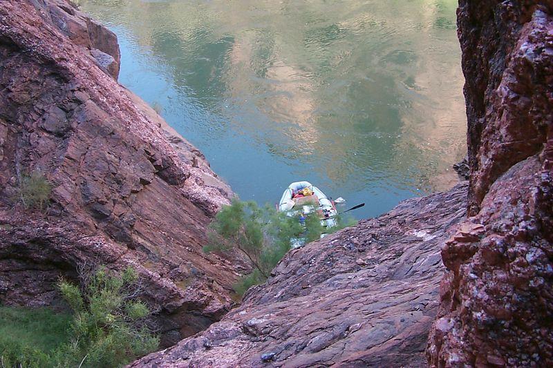 Boat below Cave   (Jun 06, 1999, 10:05am)