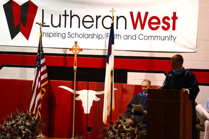 Lutheran West Graduation - Class of 2013  Welcome Message by Cleveland Lutheran High Schoo Association Superintendent John Buetow