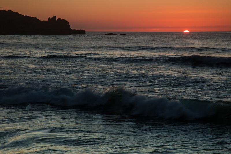 Sunset Punakaiki