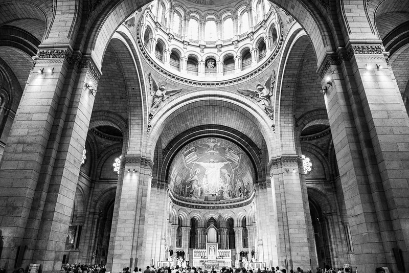 Interior of Sacre Coeur Cathedral
