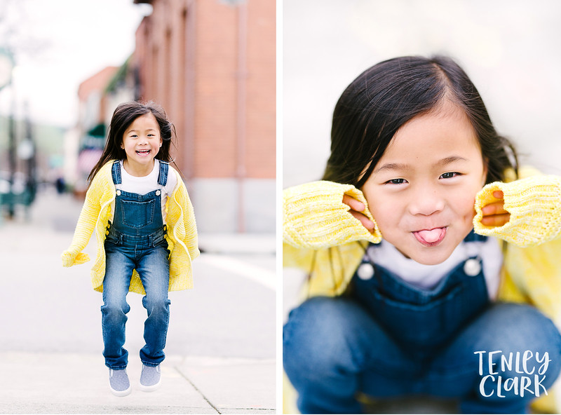 Kids model headshot portfolio session in Niles District Fremont by Tenley Clark Photography.