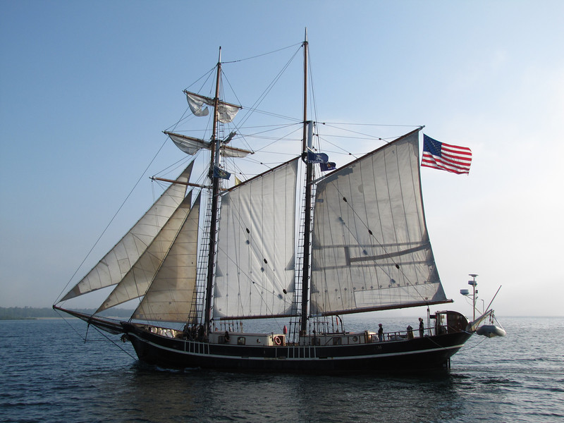 Unicorn is a 116 foot square topsail schooner, the only tall ship in the world with an all-female crew.