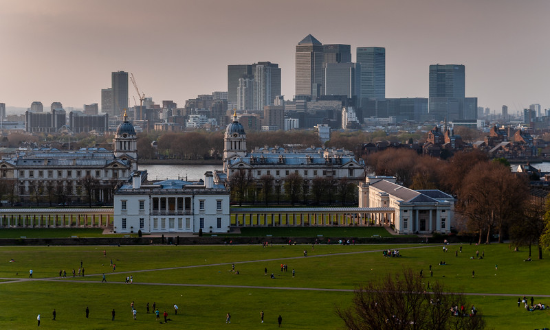 Greenwich and Docklands cityscape