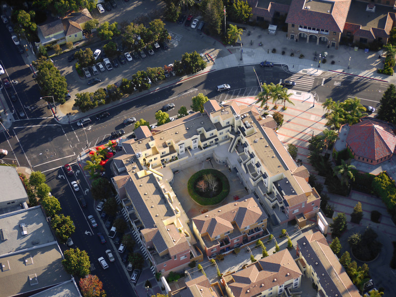 Redwood City, Library upper right, Milagros left.