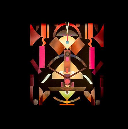 a dance--color, symmetry and paper